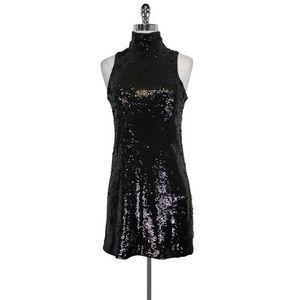 •Alice + Olivia• Black Sequin Sleeveless Dress